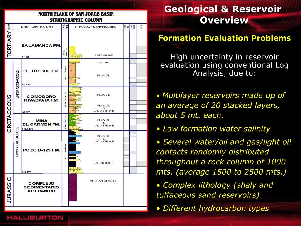 Geological & Reservoir