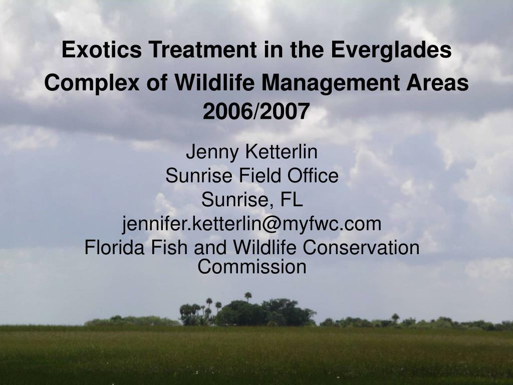 Exotics Treatment in the Everglades Complex of Wildlife Management Areas