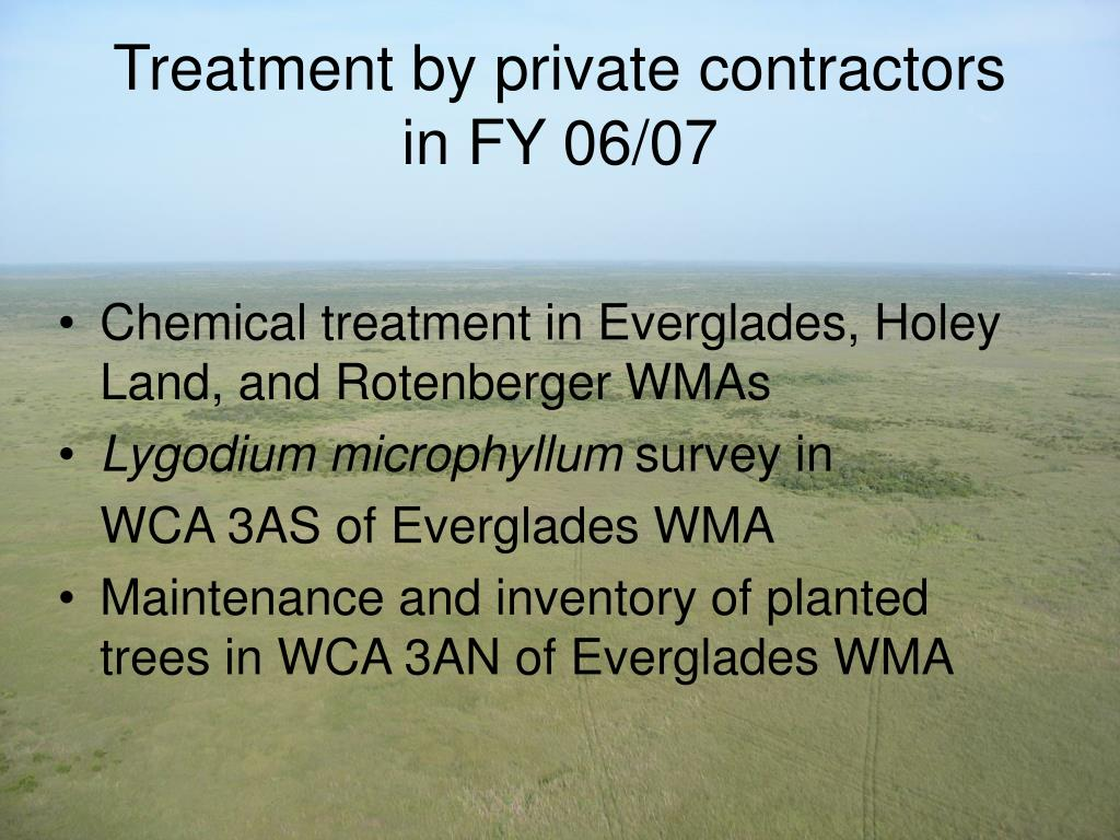 Treatment by private contractors