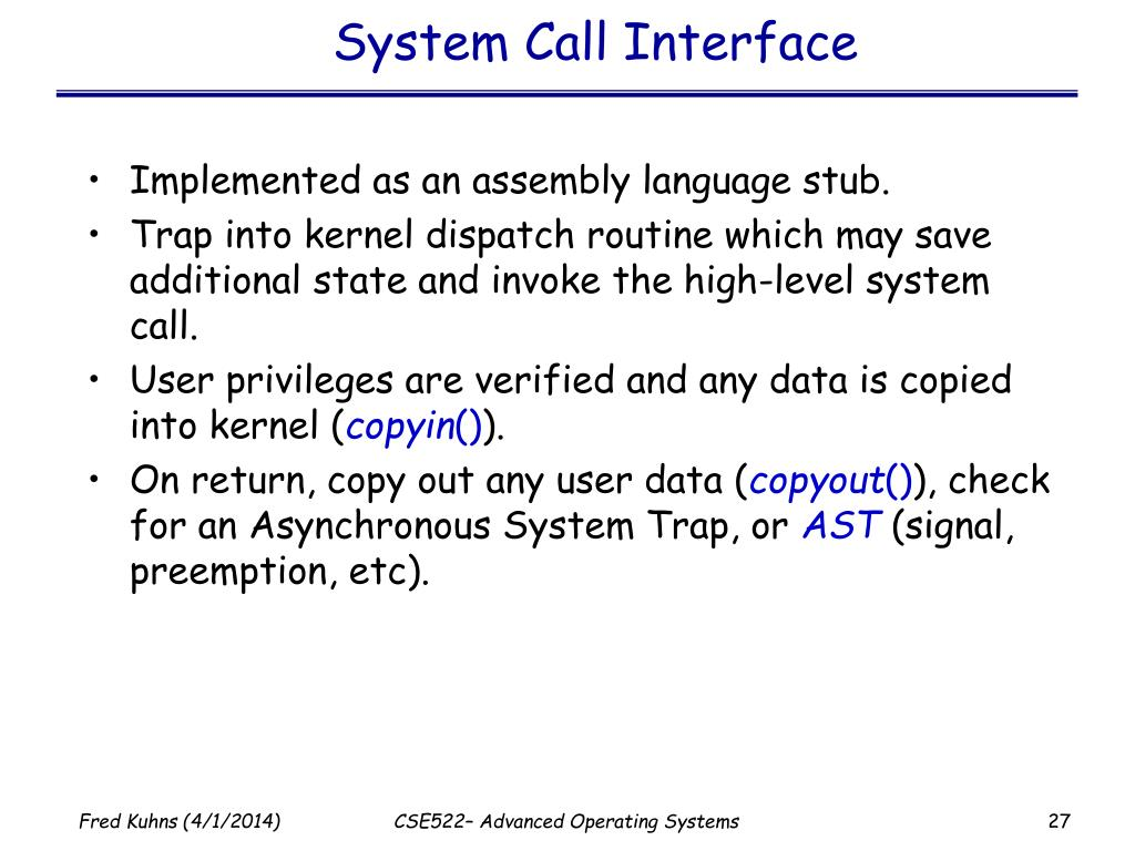 System Call Interface