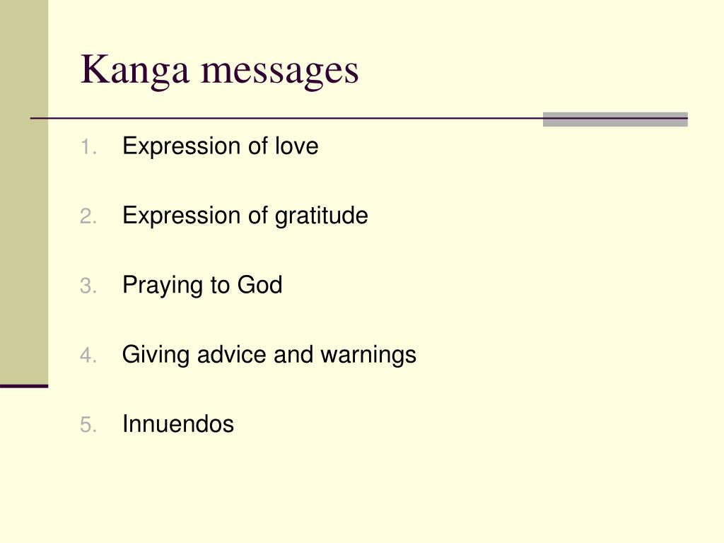 Kanga messages