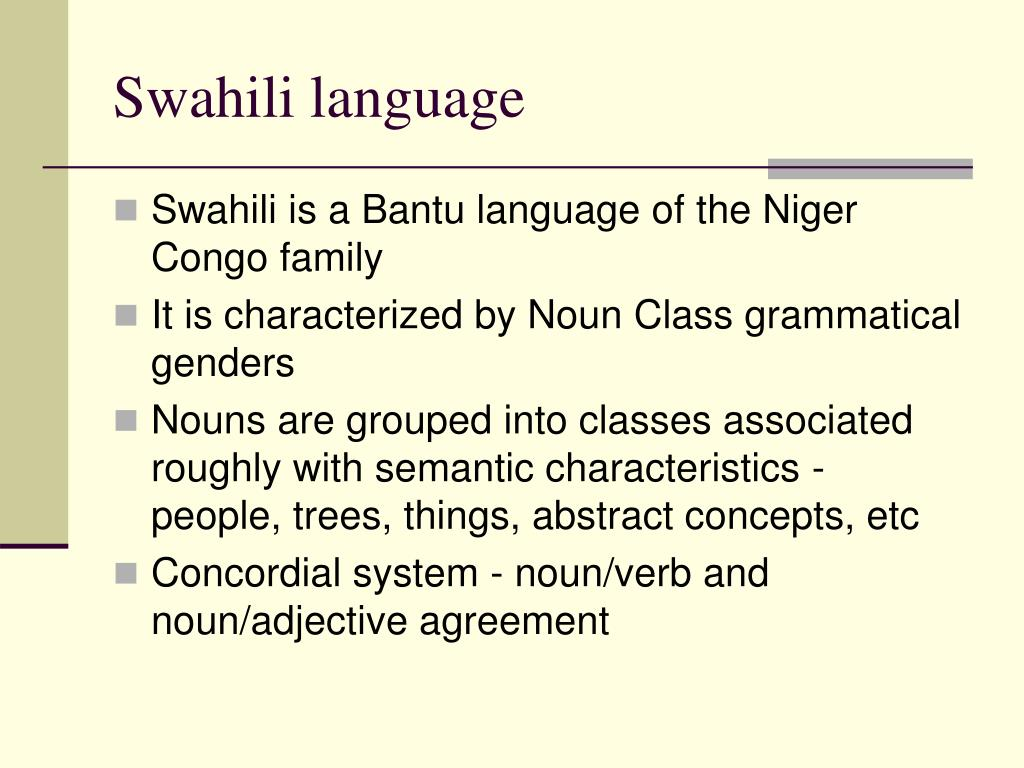 Swahili language