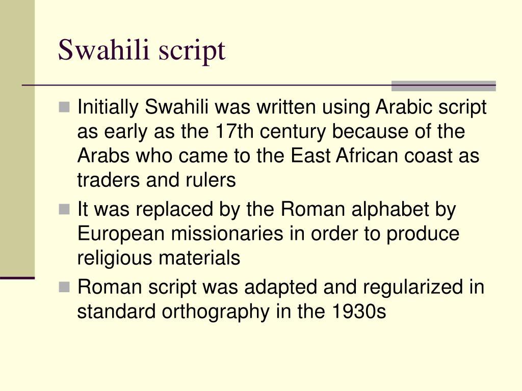 Swahili script