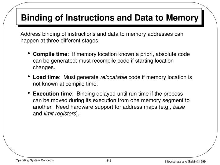 Binding of instructions and data to memory l.jpg