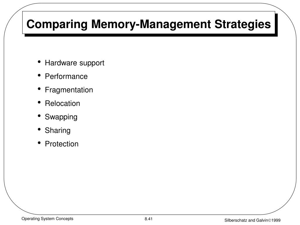Comparing Memory-Management Strategies