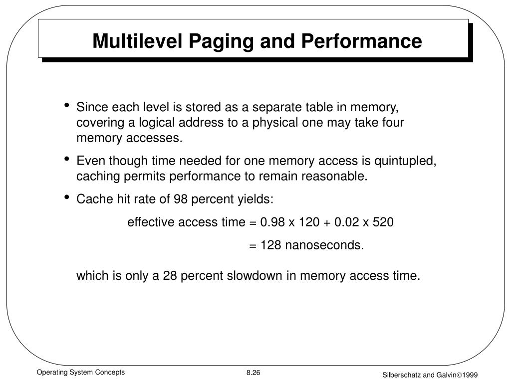 Multilevel Paging and Performance