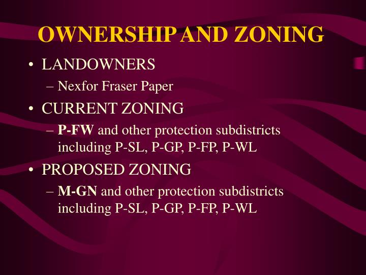 Ownership and zoning l.jpg