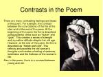 contrasts in the poem