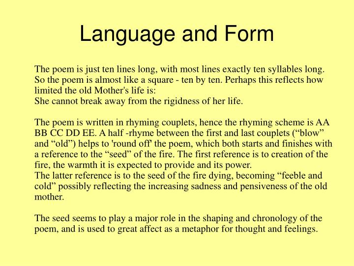 Language and form