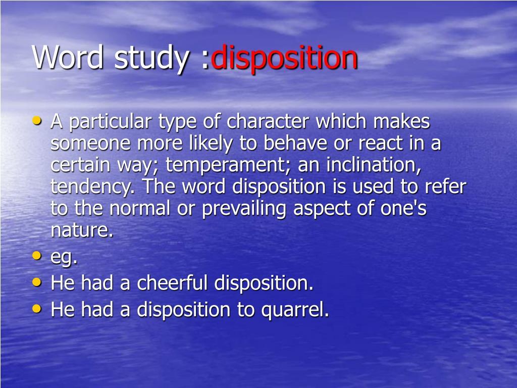 Word study :