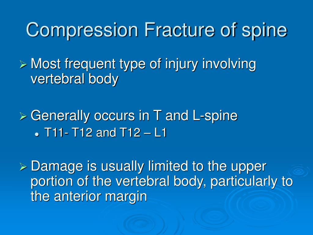 Compression Fracture of spine