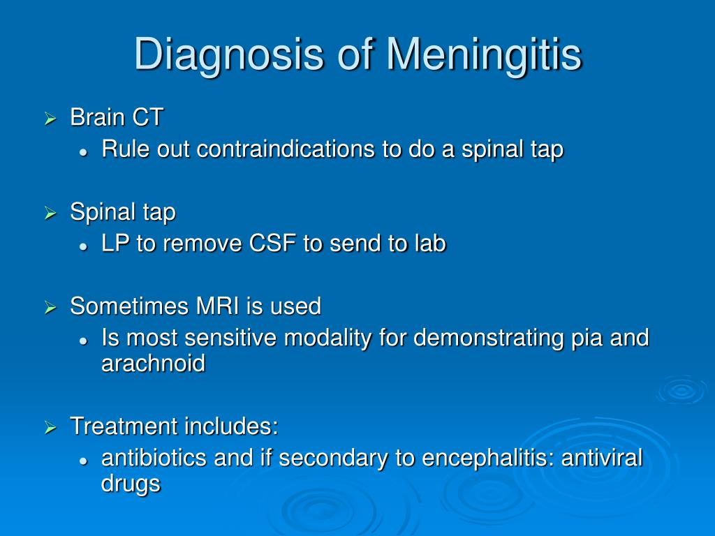Diagnosis of Meningitis