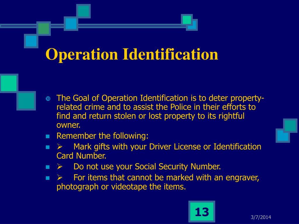 Operation Identification