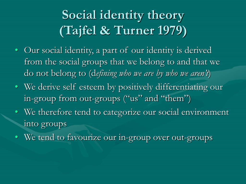 tajfel public i . d . theory