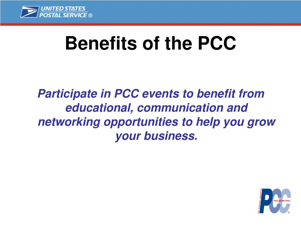 Benefits of the PCC
