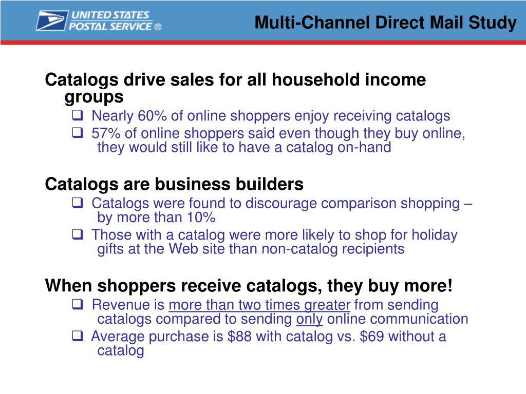 Multi-Channel Direct Mail Study