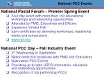 national pcc events