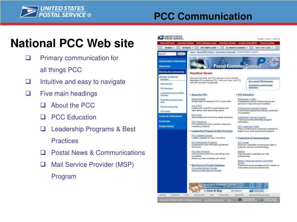 PCC Communication
