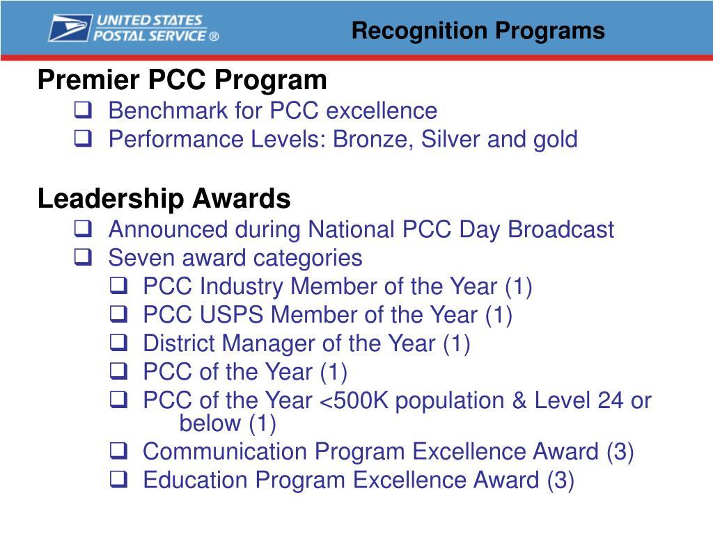 Premier PCC Program
