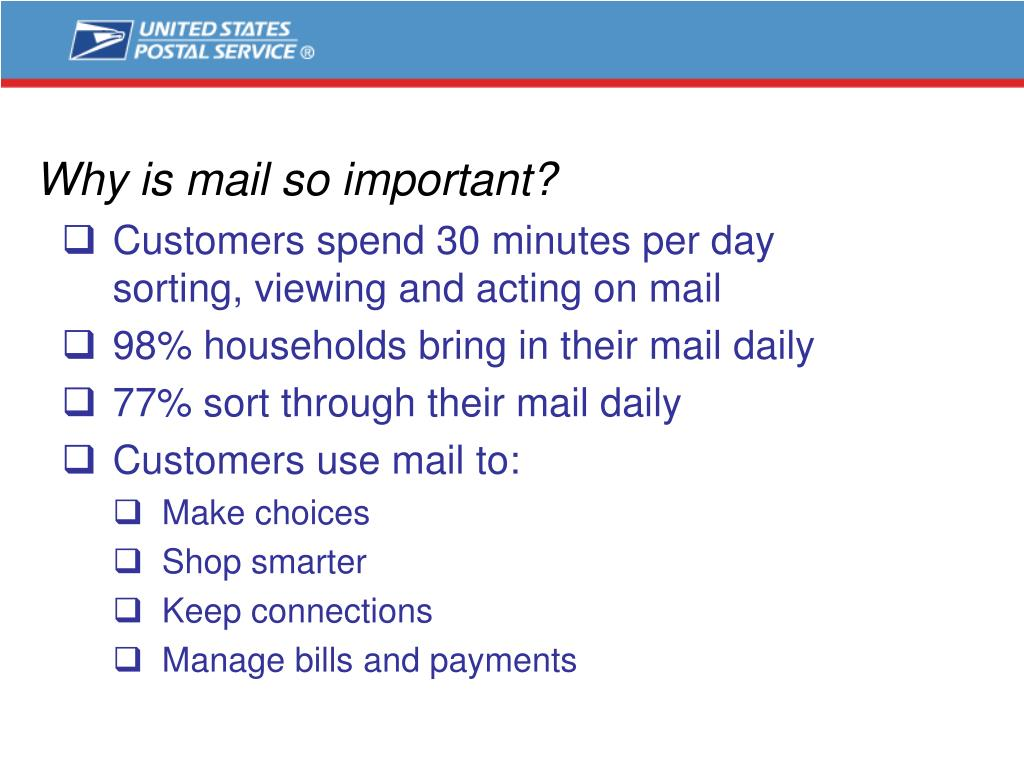 Why is mail so important?