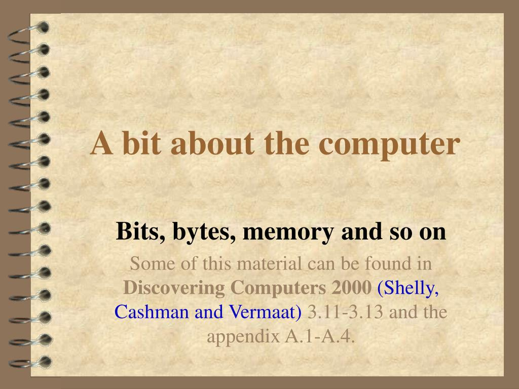 A bit about the computer