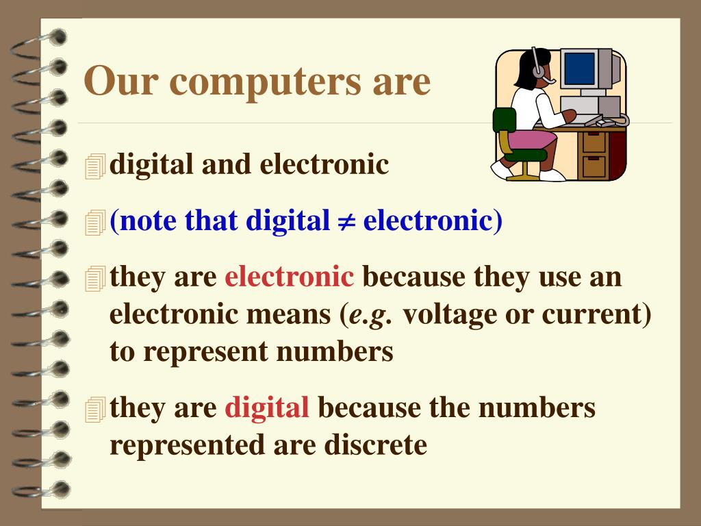 Our computers are