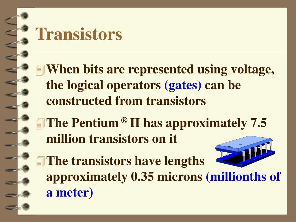 When bits are represented using voltage, the logical operators
