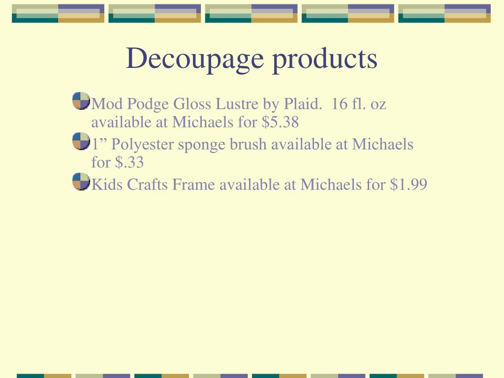 Decoupage products