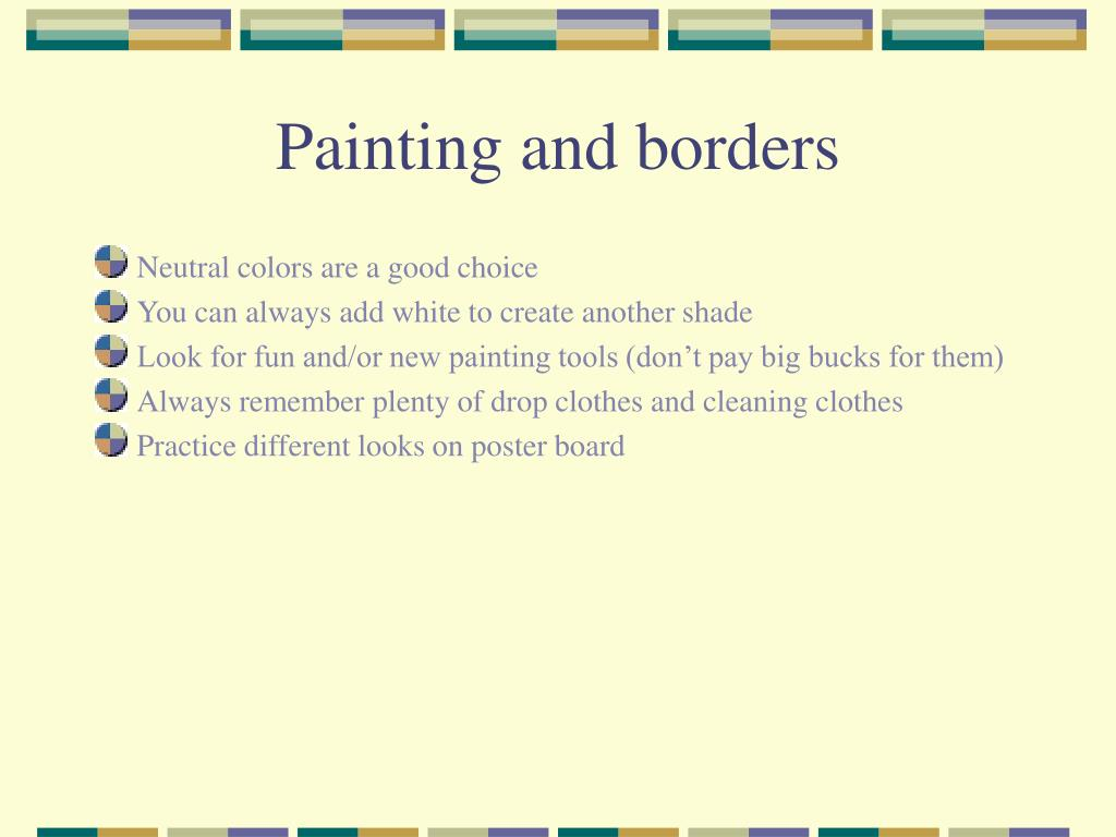 Painting and borders