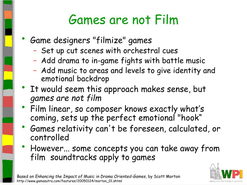 Games are not Film