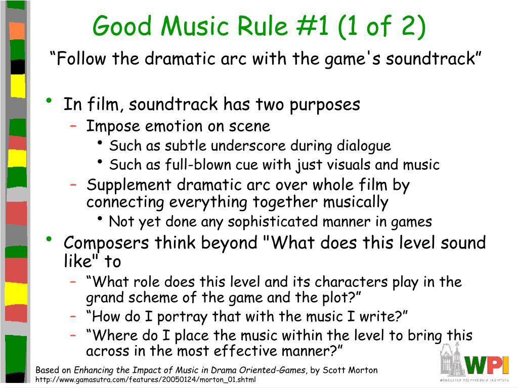 Good Music Rule #1 (1 of 2)