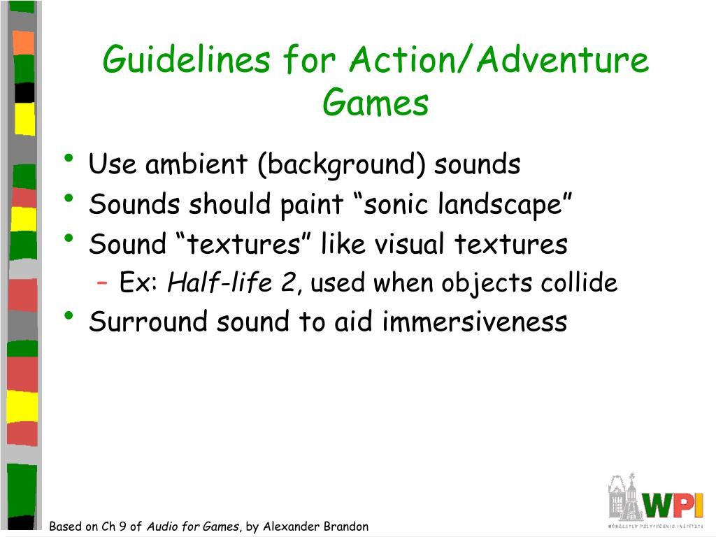 Guidelines for Action/Adventure Games