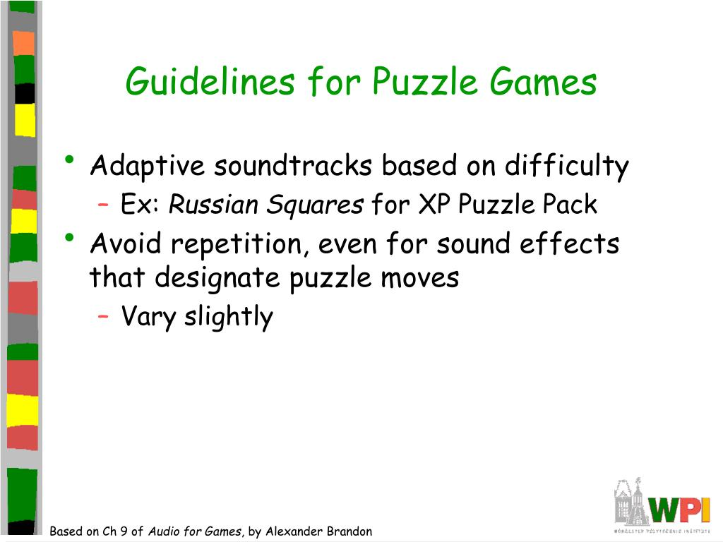 Guidelines for Puzzle Games