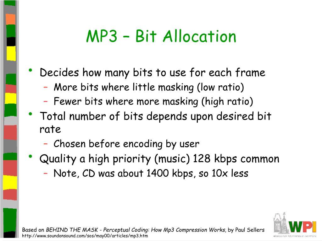 MP3 – Bit Allocation