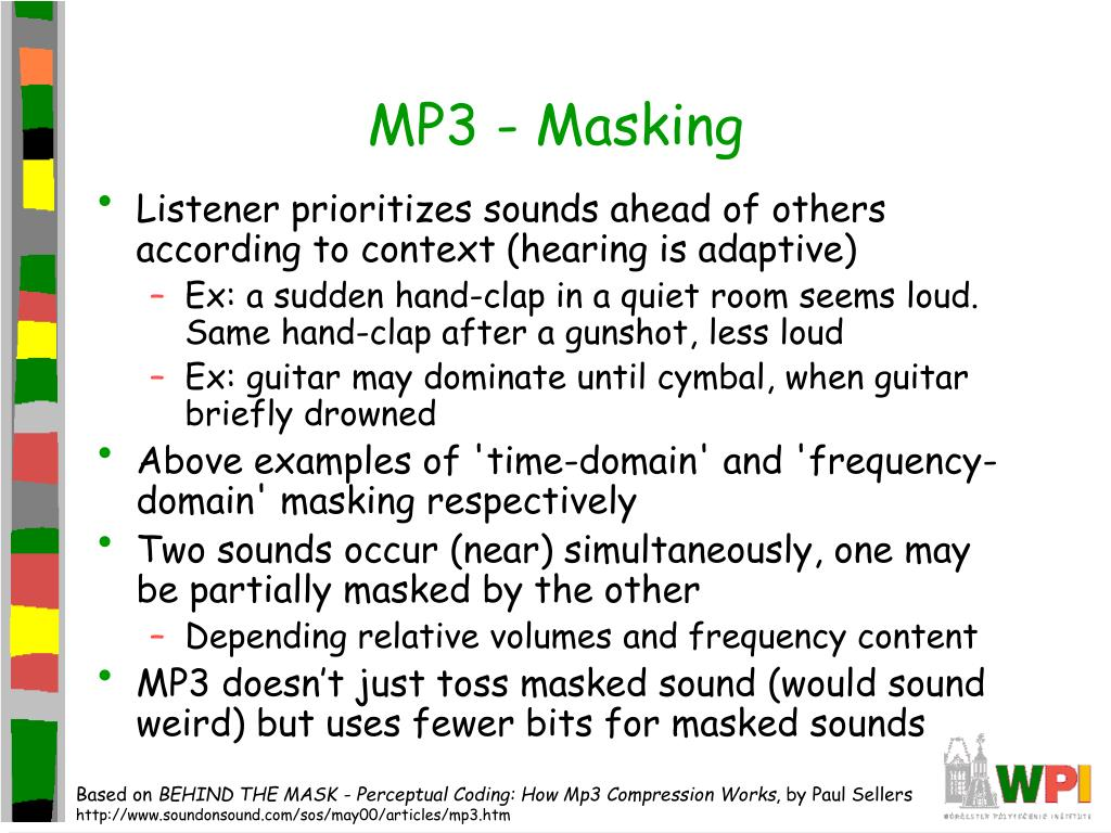 MP3 - Masking