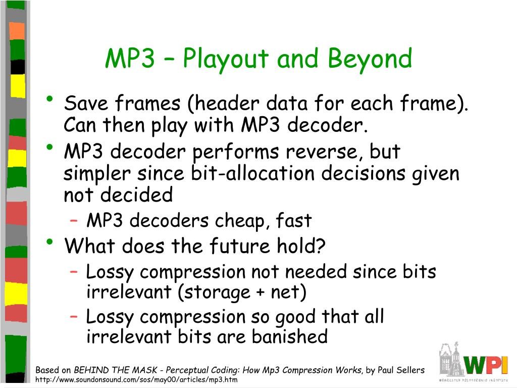 MP3 – Playout and Beyond