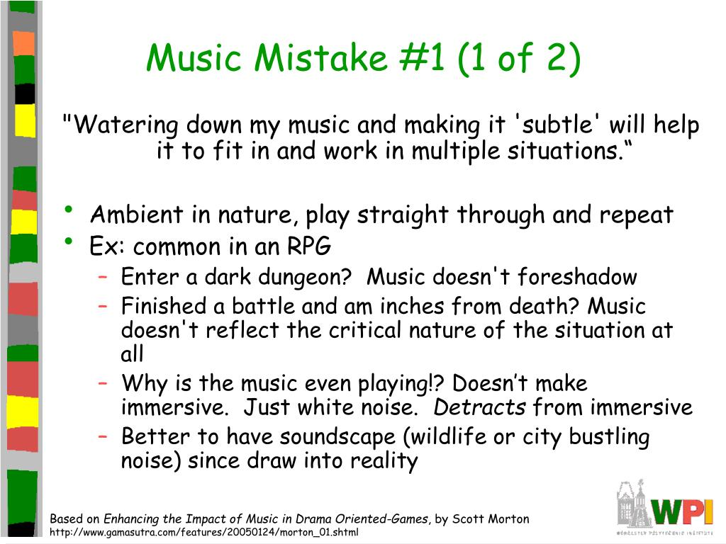 Music Mistake #1 (1 of 2)