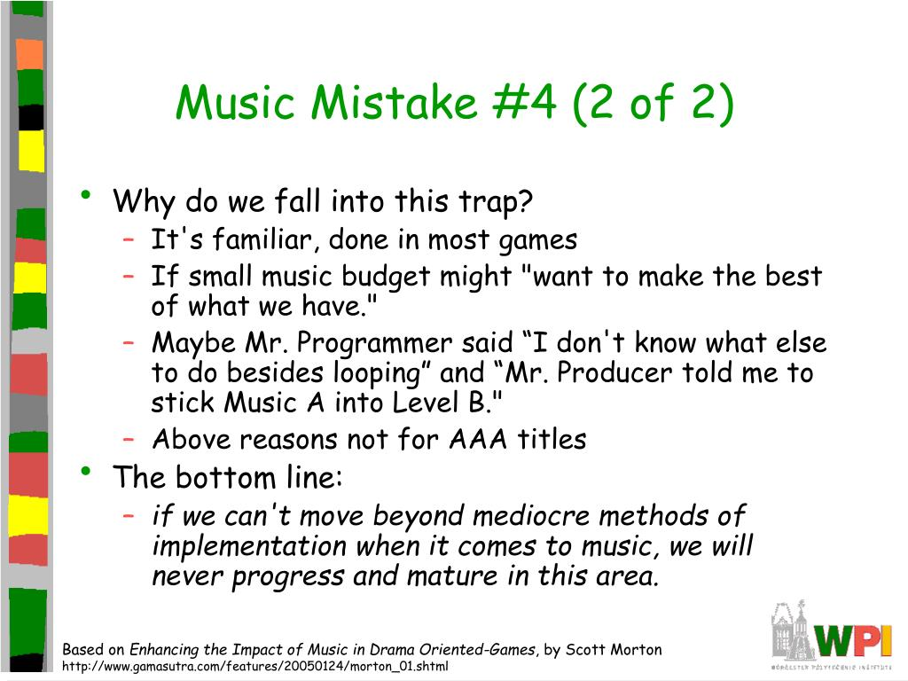 Music Mistake #4 (2 of 2)