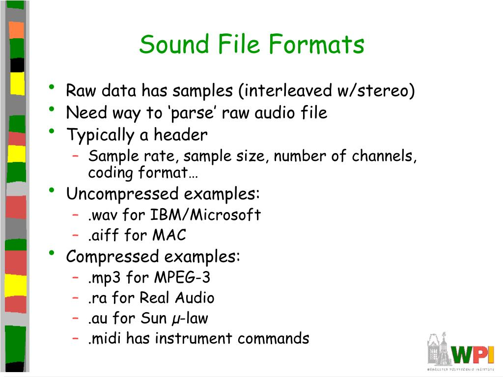 Sound File Formats