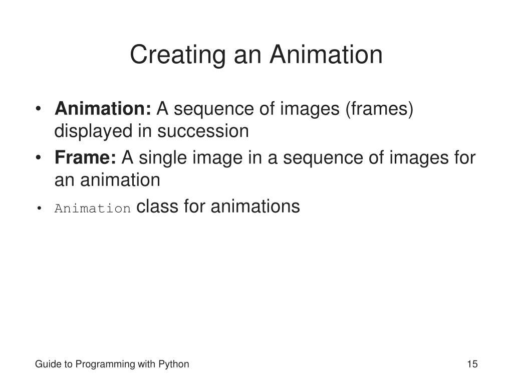 Creating an Animation