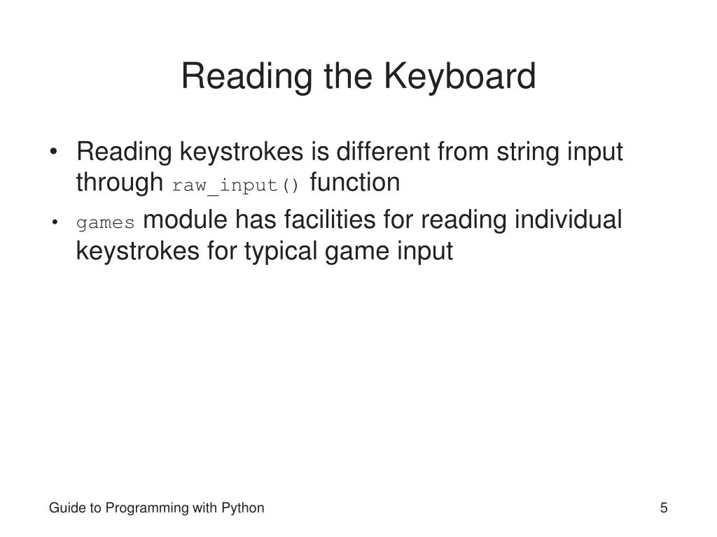 Reading the Keyboard