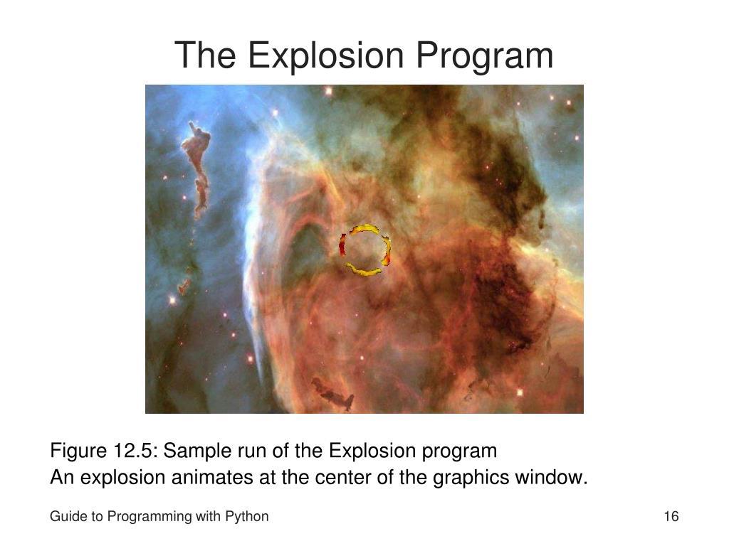The Explosion Program