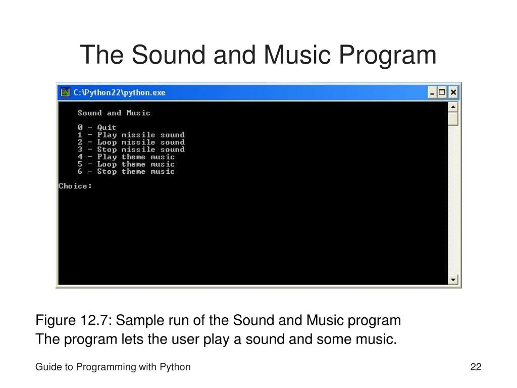 The Sound and Music Program