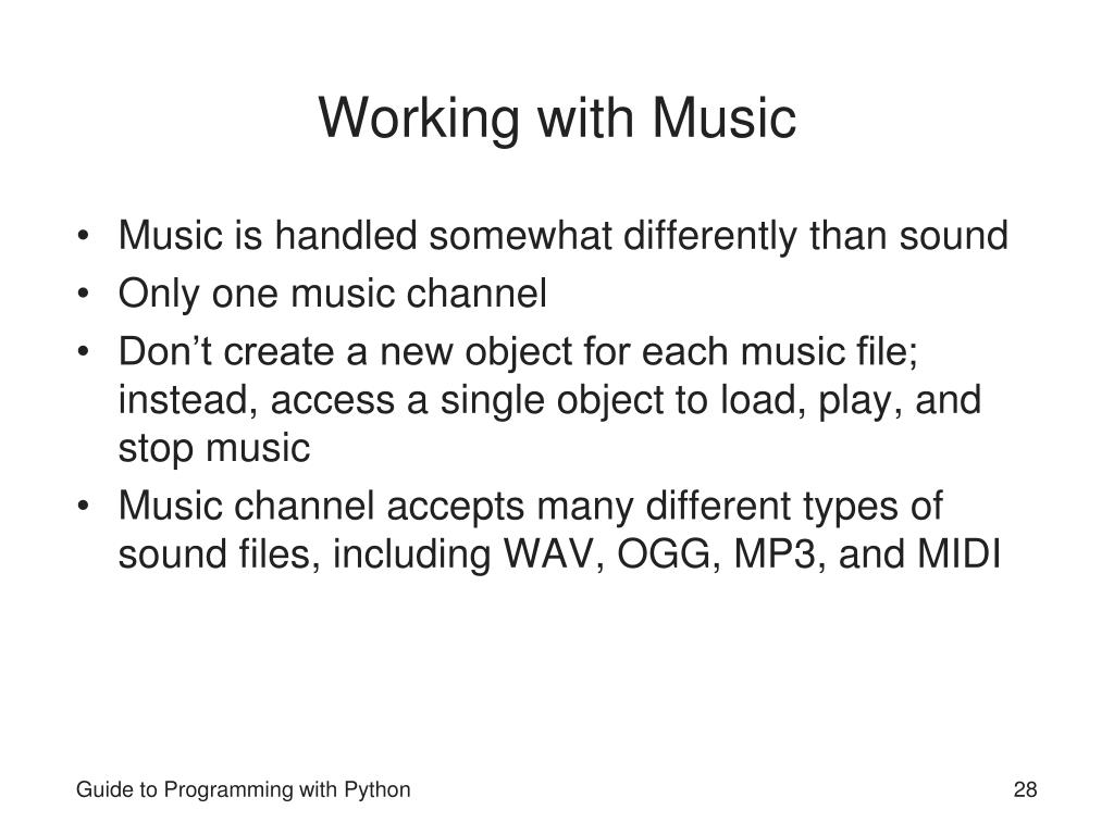 Working with Music