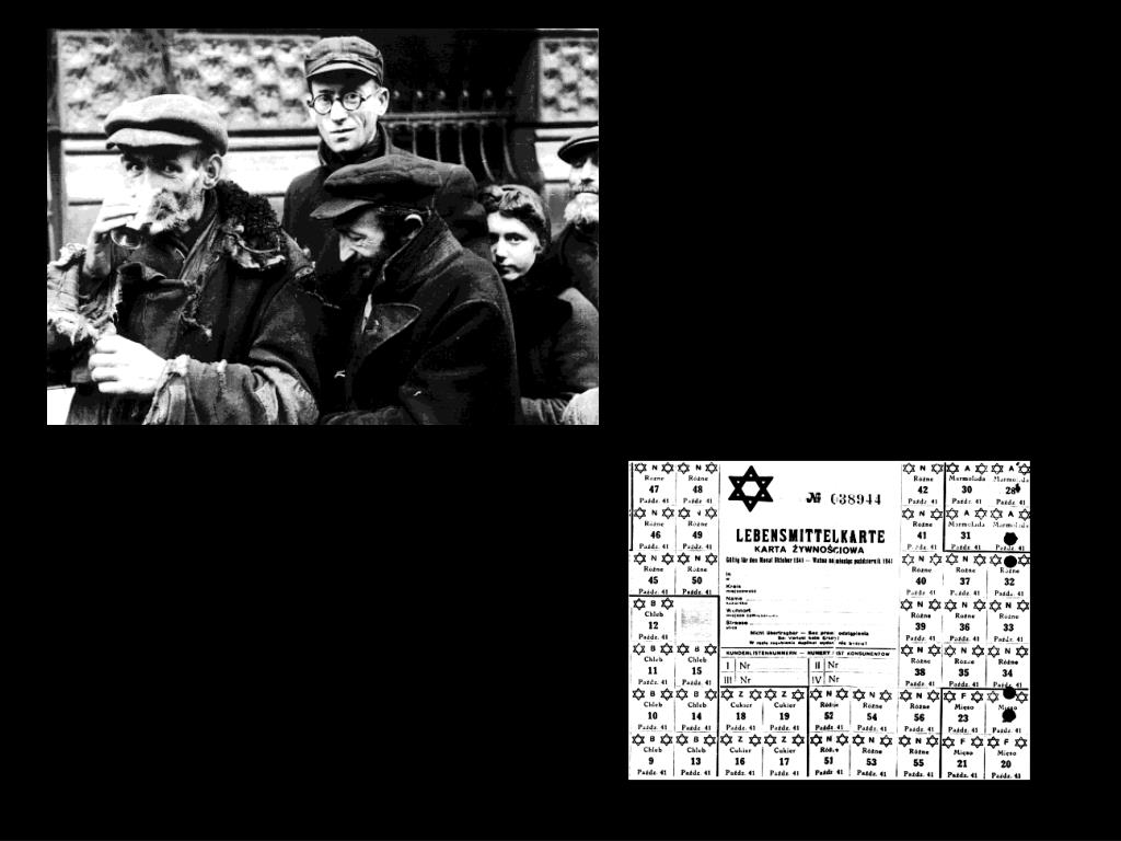 October '41 ration card 300 calories a day. Warsaw Ghetto