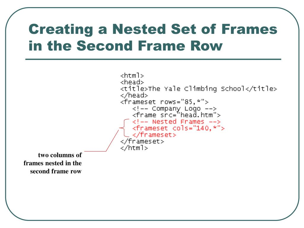 Creating a Nested Set of Frames