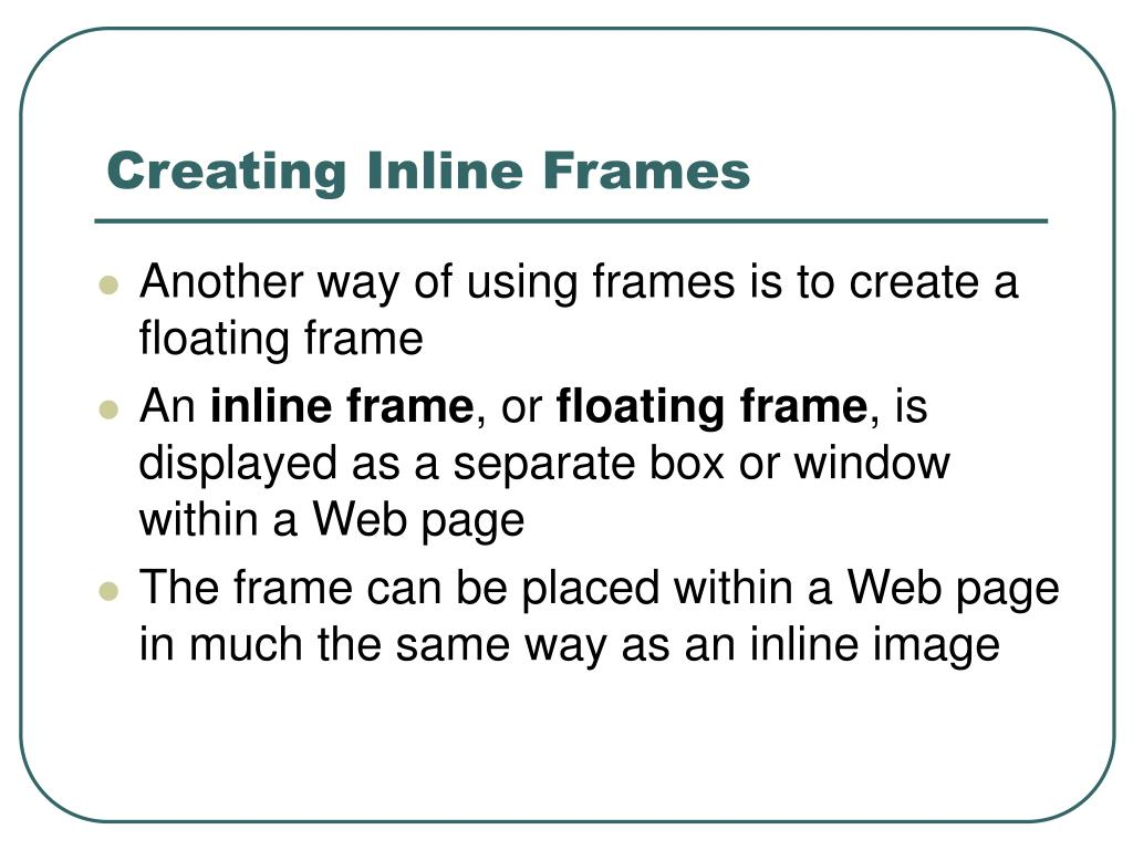Creating Inline Frames