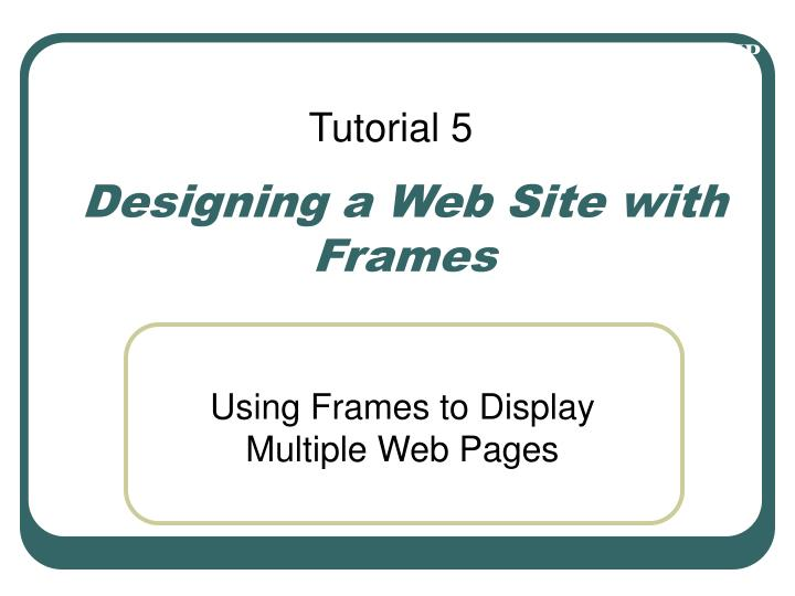 Designing a web site with frames l.jpg