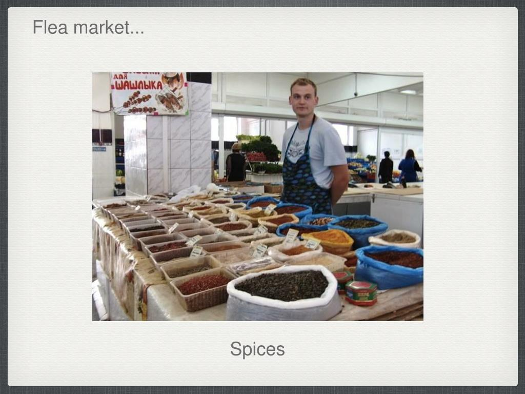 Flea market...