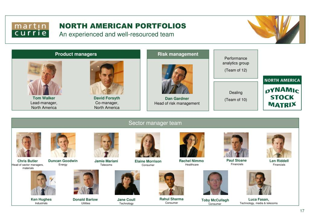 NORTH AMERICAN PORTFOLIOS